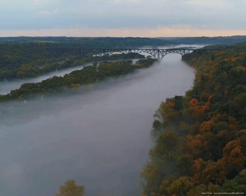 Inversion Fog (Dragon Breath) Over St. Croix River